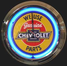 Genuine Chevrolet Parts Neon Clock