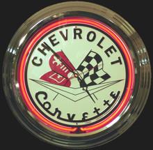 Corvette Classic Neon Clock