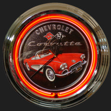 Corvette Roadster Neon Clock