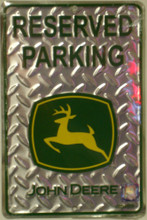 John Deere Reserved Parking Metal Plate Metal Sign