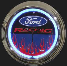 Ford Racing Neon Clock