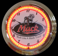 Mac Trucks Neon Clock