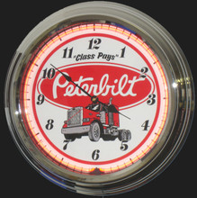 Peterbuilt Trucks Neon Clock