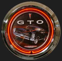 Pontiac GTO Neon Clock