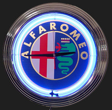 Alfa Romeo Neon Clock