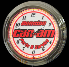 Can Am Parts & Service Neon Clock