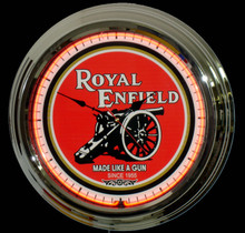 Royal Enfield Motorcycle Neon Clock