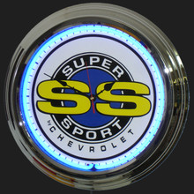 Chevrolet Super Sport SS Neon Clock