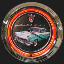 Ford Fairlane Neon Clock