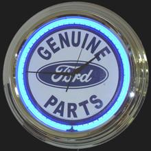 Ford Genuine Parts White Face Neon Clock