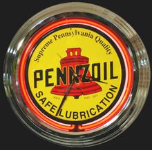 Pennzoil Oil Classic Neon Clock