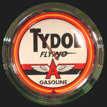 Tydol Flying A  Gasoline Neon Clock