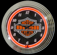 Buell Motorcycles Neon Clock