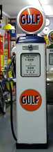 Gulf Oil 1950's Full Size Erie Gas Pump