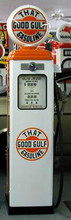 Good Gulf Oil 1950's Full Size Erie Gas Pump