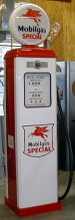 Mobil Oil  Special 1950's Full Size Erie Gas Pump