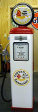 Chevrolet Corvette Logo 1950's Full Size Erie Gas Pump
