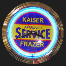 Kasier Frazer Approved Service Neon Clock