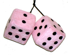 Pink Fuzzy Dice