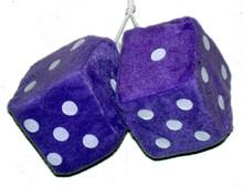 Purple Fuzzy Dice