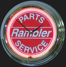 Rambler Parts & Service Neon Clock
