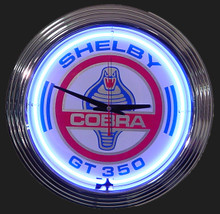 Shelby Cobra GT 350 Neon Clock