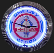 Shelby Cobra GT 500 Neon Clock