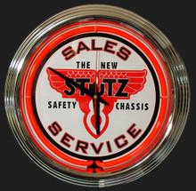 Stutz Sales & Service Neon Clock