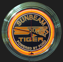 Sunbeam Tiger Neon Clock