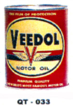 Veedol Motor Oil Cans - Quantity Of Six Cans