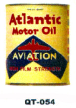 Atlantic Aviation Motor Oil Cans - Quantity Of Six Cans