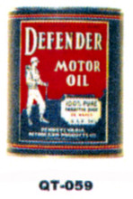 Defender Oil Motor Oil Cans - Quantity Of Six Cans