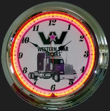 Western Star Trucks Neon Clock