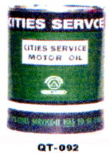 City Services Motor Oil Cans - Quantity Of Six Cans