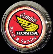 Honda Motorcycle Parts & Service Neon Clock