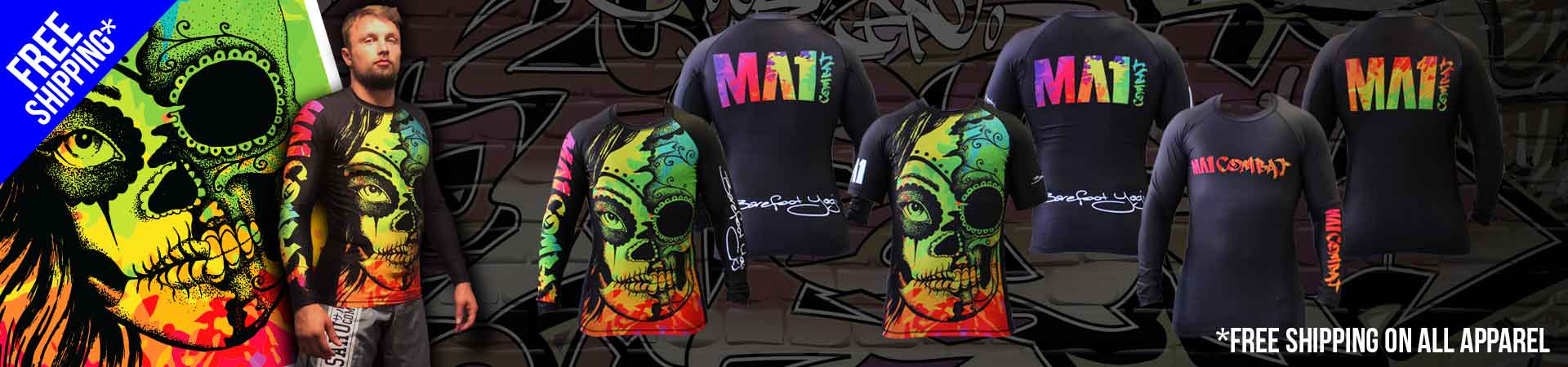 MA1 Barefoot Yogi & Combat Rash Guards FREE SHIPPING