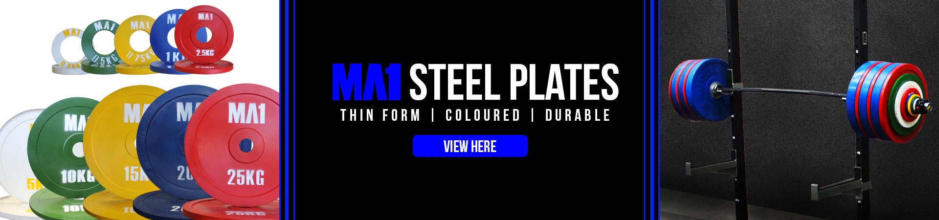 MA1 Pro Steel Olympic Plates
