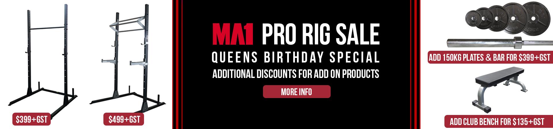 Queens Birthday MA1 Pro Rig Sale