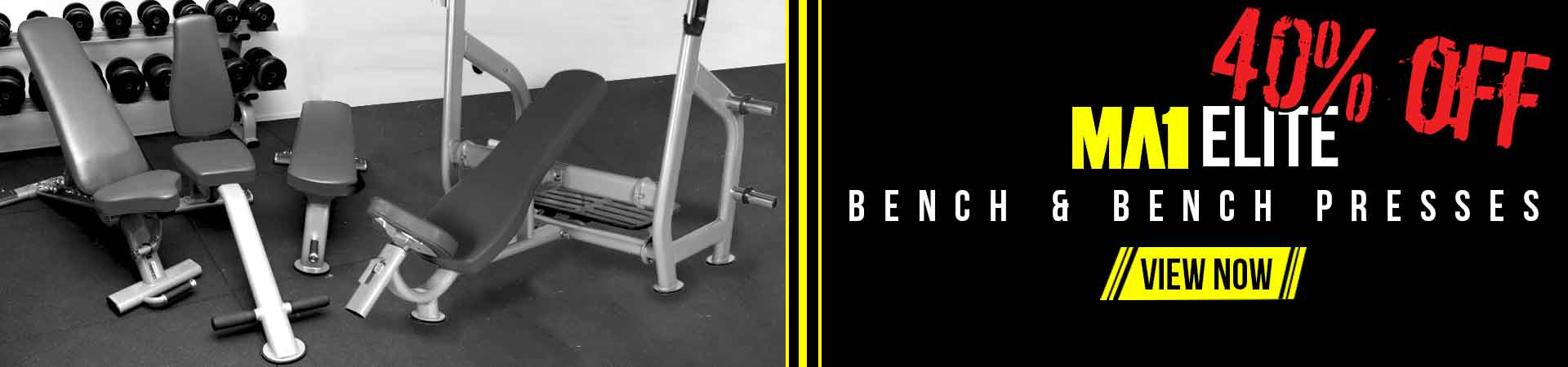 40% off MA1 Elite Benches & Bench Presses