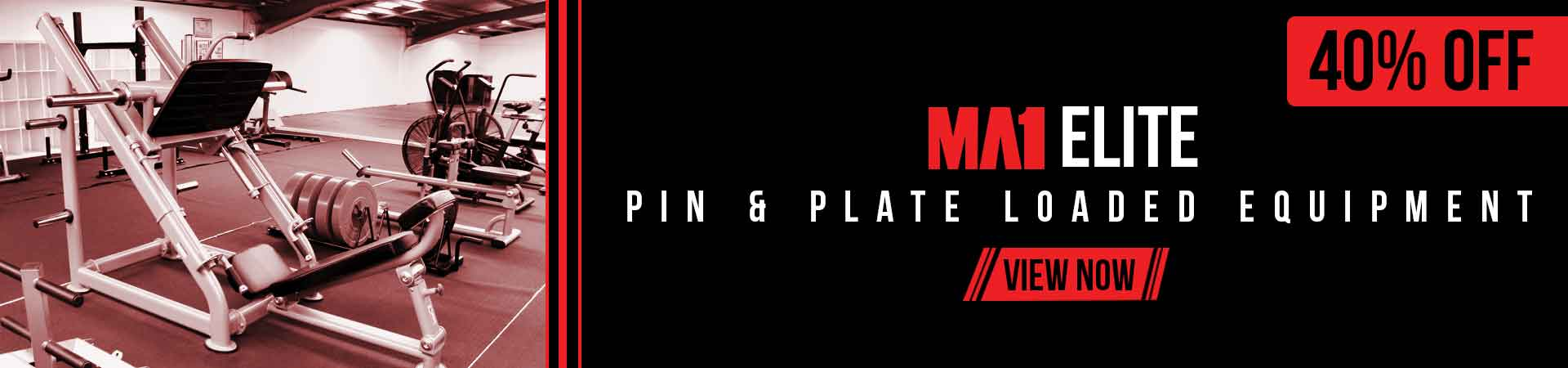 40% off Pin & Plate Loaded Equipment