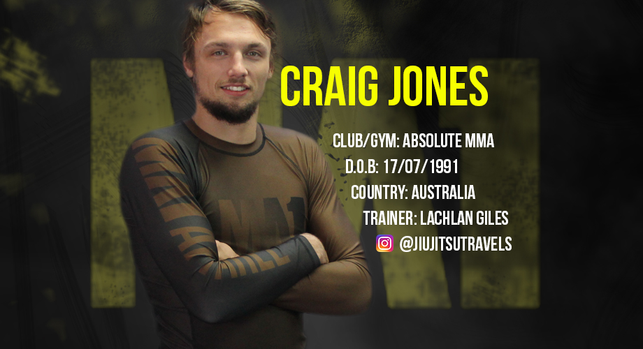 Brazilian Jiu Jitsu Bjj Athlete Craig Jones Ma1 Athletes