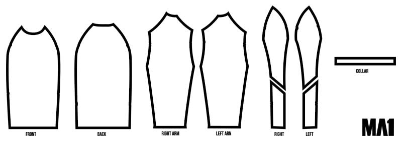 MA1 Australia Custom Rash Guard Layout