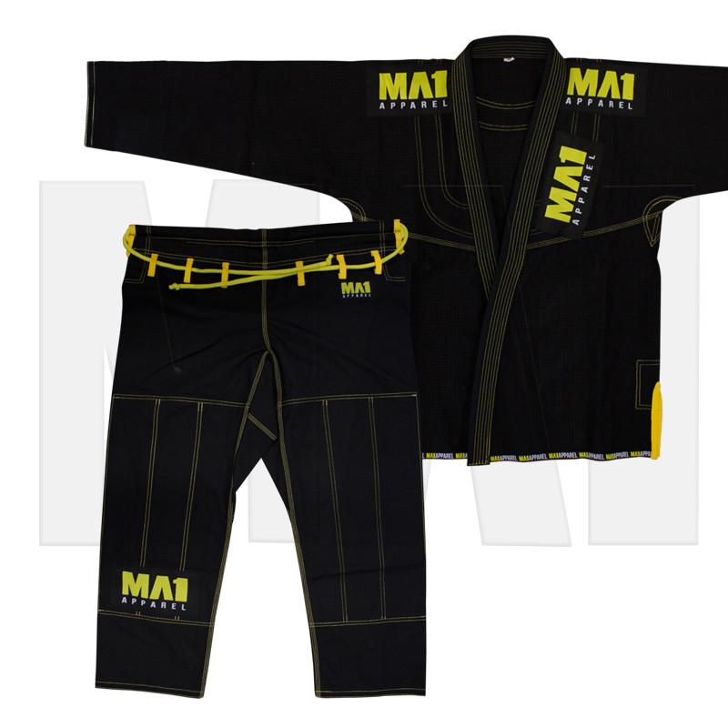 MA1 Kimono - Black with contrast stitching