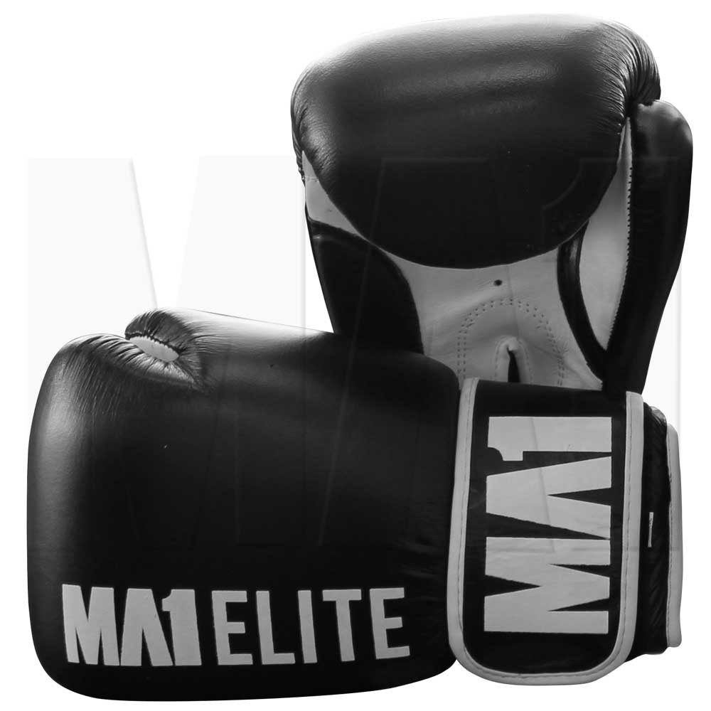 MA1 Elite Leather 16oz Gloves - Black