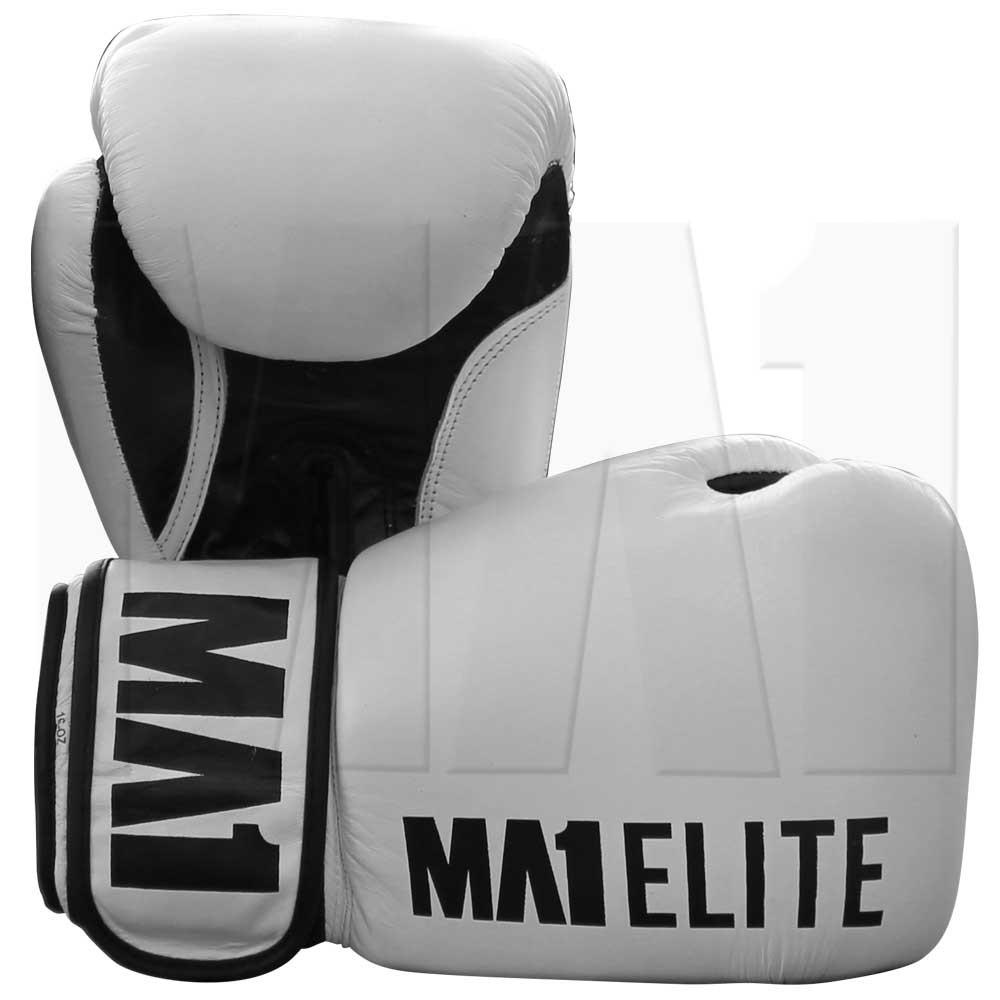MA1 Elite Leather 16oz Gloves - White