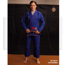 MA1 Athlete Livia Gluchowska - MA1 Comp Gi - Blue & Red - AMMA