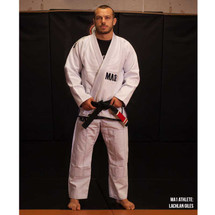 MA1 Athlete Lachlan Giles - MA1 Comp Gi - White with Navy Blue.