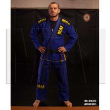 MA1 Athlete Lachlan Giles - MA1 Ultra Light Kimono - Blue (contrast stitching)