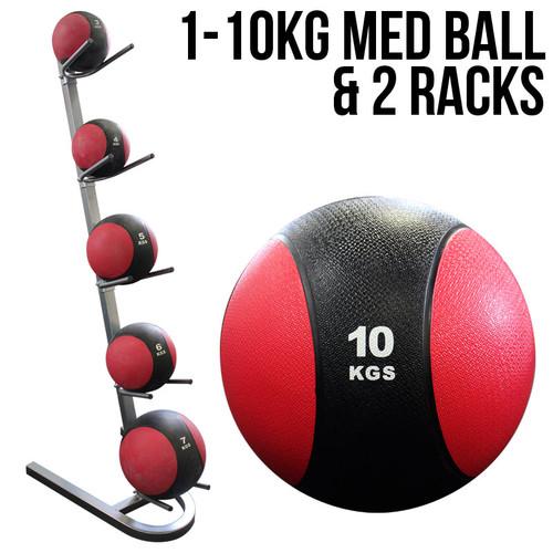 MA1 1-10kg Medicine Ball Set with Racks