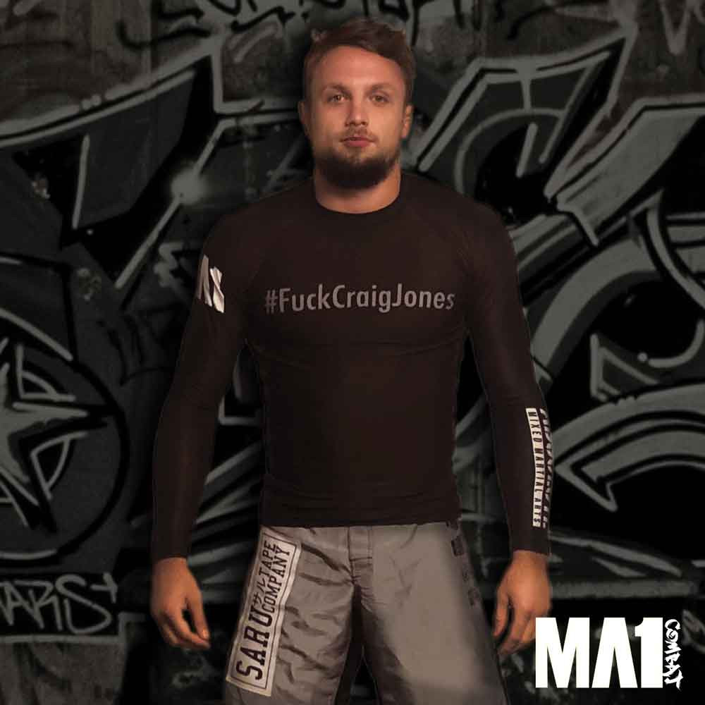 MA1 #FuckCraigJones Short Sleeve Rash Guard
